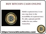 Buy Bitcoin Cash Online in Singapore