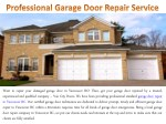 Professional Garage Door Repair Service