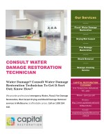 Water damage consult water damage restoration technician to get it sort out