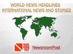 World News Headlines - International News and Stories | NewsroomPost