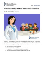 Risks Covered by the Best Health Insurance Plans