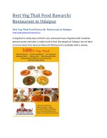 Best Veg Thali Food Bawarchi  Restaurant in Udaipur