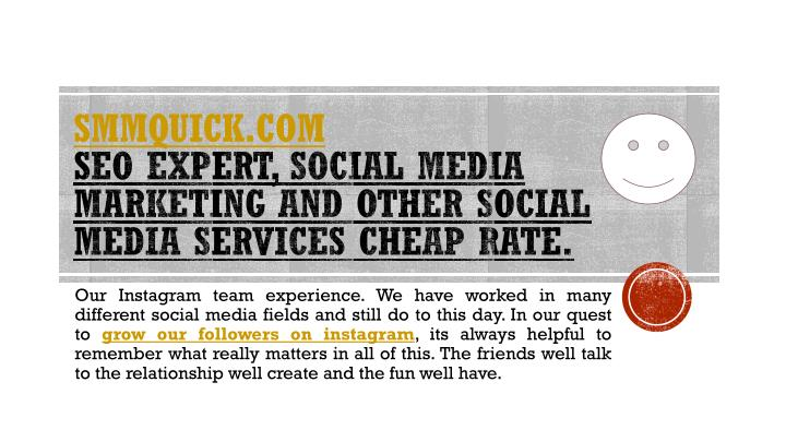 smmquick com seo expert social media marketing and other social media services cheap rate n.