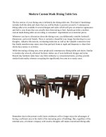 Modern Custom Made Dining Table Sets