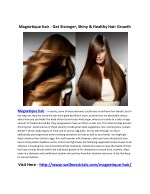 Magnetique hair - Increase Volume & Shine Of Your Hair