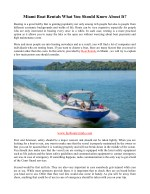 Miami Boat Rentals What You Should Know About It?