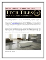 Are You Planning To Change Your Tiles