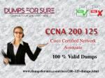 Valid 200-125 dumps a real questions for Cisco exam success
