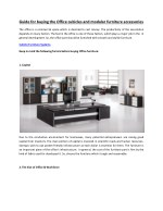 Guide for buying the Office cubicles and modular furniture accessories