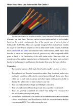 When Should You Use Submersible Flat Cables?