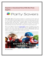 Organize a Sensational Party With Best Party Supplies