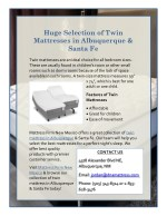 Huge Selection of Twin Mattresses in Albuquerque & Santa Fe