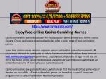 Enjoy free online Casino Gambling Games