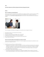 Synergo - Important Components of Effective Employee Performance Management System
