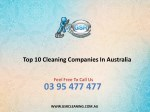 Top 10 Cleaning Companies In Australia - GSR Cleaning Services
