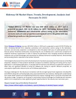 Slideway Oil Market Share, Trends, Development, Analysis And Forecasts To 2022