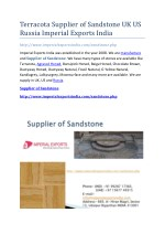 Terracota Supplier of Sandstone UK US Russia Imperial Exports India