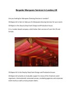 Bespoke Marquees Services In London,UK