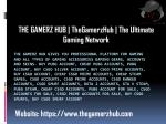 TheGamerzHub | The Ultimate Gaming Network
