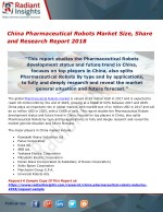 China Pharmaceutical Robots Market Size, Share and Research Report 2018