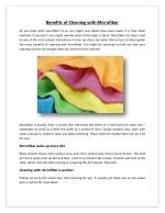 Benefits of Cleaning with Microfiber
