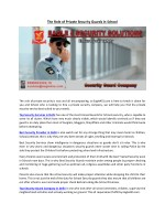 Do you have Security guard company in Delhi NCR