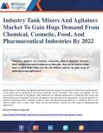 Industry Tank Mixers And Agitators Market To Gain Huge Demand From Chemical, Cosmetic, Food, And Pharmaceutical Industri