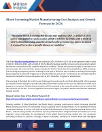 Blood Screening Market Manufacturing Cost Analysis and Growth Forecast by 2024