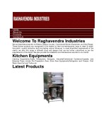 Kitchen Equipments Manufacturers and Suppliers-RAGHAVENDRA INDUSTRIES
