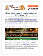 Black magic removal specialist & expert in London, UK