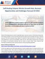 Self-Healing Polymer Market Growth Rate, Business Opportunities and Challenges Forecast till 2022