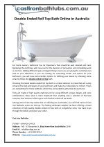 Double Ended Roll Top Bath Online in Australia