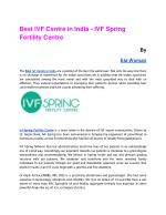 Best IVF Centre in India - IVF Spring Fertility Centre