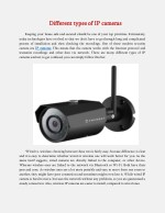 Different types of IP cameras