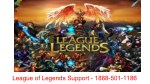 League of Legends Game Support Number - 1888-501-1186