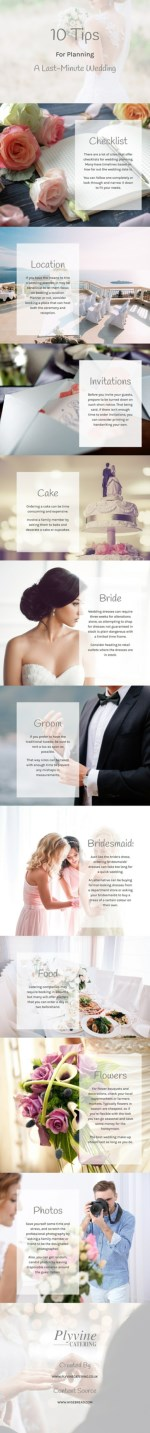 10 Tips for Planning a Last-Minute Wedding