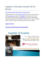 Supplier of Paradiso Granite UK US Russia