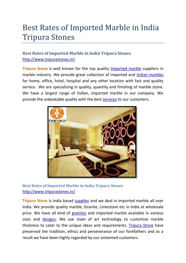 best rates of imported marble in india tripura n.