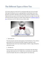 The Different Types of Bow Ties