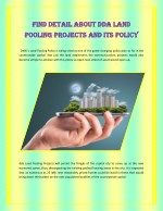 Find Detail About DDA Land Pooling Projects And Its Policy