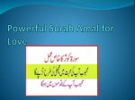 Powerful Surah Amal for Love