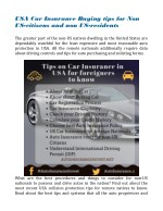 Car Insurance Buying tips for Non US Citizens