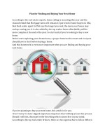 Plan for Finding and Buying Your Next Home