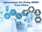 Advantages for Doing MBBS from China