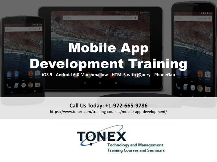 mobile app development training ios 9 android n.