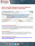 Global Fraud Risk Management Services Market to grow at a CAGR of 18.25% by 2018-2022