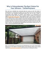 Why Is Polycarbonate The Best Choice For Your Alfresco - Tuflite Polymers