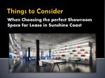 Secrets to a Successful Showroom Space Selection in Sunshine Coast