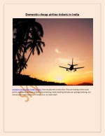Domestic cheap airline tickets in india