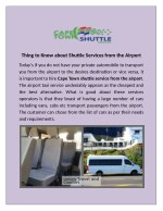 If you want Hermanus Shuttle services